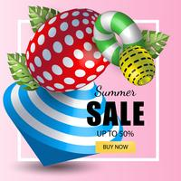 Summer banner sales vector