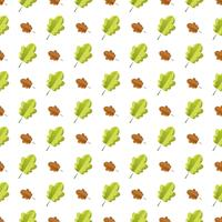 Seamless pattern with colorful autumn leaves.
