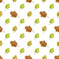 Modèle sans couture avec les feuilles de l'automne colorés.