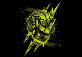 flash thunder hero mascot design illustration
