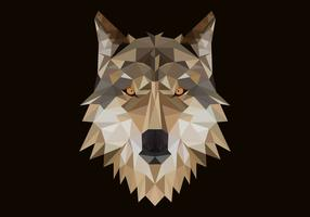 polygonal wolf head vector illustration