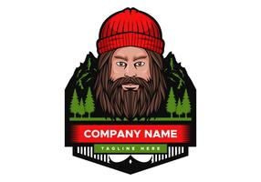 Mountain Man Vector illustration badge