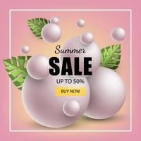 summer banner sale vector