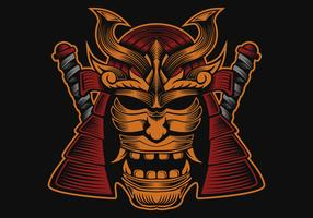 samurai head vector design illustration