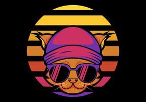 Ilustración de vector retro de gato