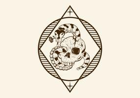 romance crâne de python