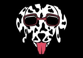 Dog Dalmatian eyeglasses Vector illustration