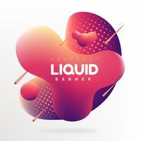 Abstract Liquid Banner Vector Design