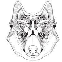 Affiche avec motifs husky