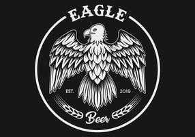 Eagle Hop Fruit-Mähdrescher-Vektorillustration