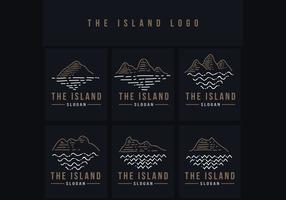 die Insel Linie Logo Vektor-Illustration
