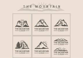 mountain sunset logo vector illustration