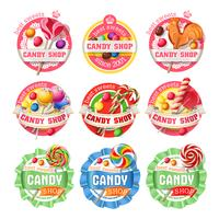 Vector set lolly logo's, stickers