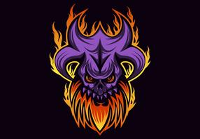 skull fire vector illustration