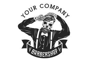 hombre del cráneo barbería