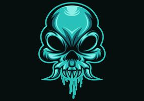 skull head mucus vector illustration