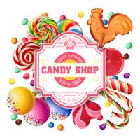 Fond d'illustration vectorielle de bonbons