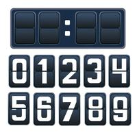 Vector illustratie van een countdown timer, mechanisch scorebord