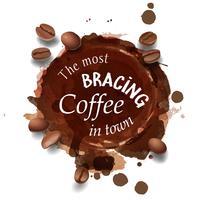 Vektorillustration av en kaffefläck, ränder.