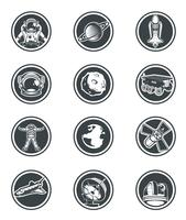 Set van vector ronde badges ruimte.
