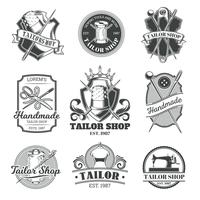 Set of vector tailor emblem, signage