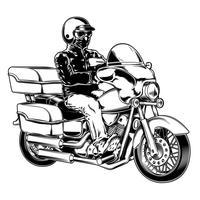 Motociclista isolado no branco