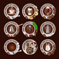Impostare splendidi badge realistici di caffè