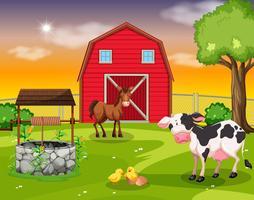 A rural farmland scene