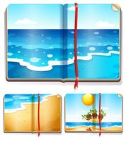 Books with ocean scenes
