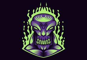 monster purple vector illustration