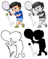 Uppsättning av tennisspelare