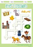Crossword letter C game template