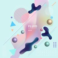 Abstract template colorful fluid shapes and geometric poster cover design background. You can use for place cards, banners, flyers, presentations and annual reports.