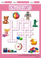 Toys crossword game template