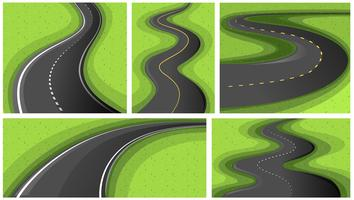 Scenes with different shapes of roads