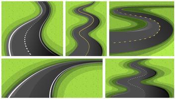 Escenas con diferentes formas de caminos.