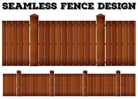 Design di recinzione in legno senza soluzione di continuità