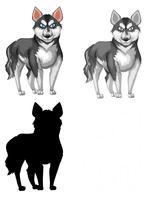 Conjunto de husky siberiano