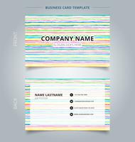 Template name card hand draw horizontal pattern pastel color background.