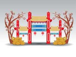 Chinese Pavilion Arch, gold, money