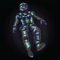 Astronaut in spacesuit on space., VECTOR