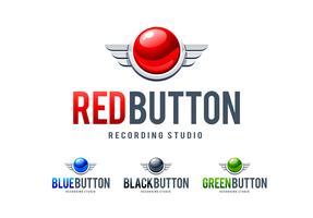 Rode knop logo vector
