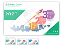 Website template vector set for web page design or company presentation.
