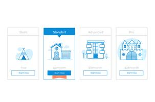 Our price plan . Different Categories of Money pricing. Choise premium. Vector flat gradient design