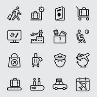 Airport line icon