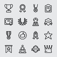 Icono de línea de premio
