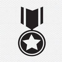 símbolo de ícone de medalha de símbolo