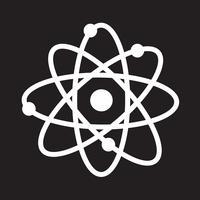 icono de átomo símbolo signo