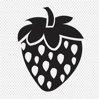 strawberry icon  symbol sign