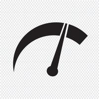 tachometer icon  symbol sign vector